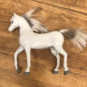 Kids Toy Barbie Horse Light Gray Great Condition